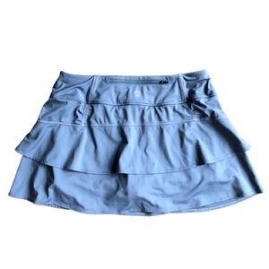 Athleta Gray Ruffle Skirt with built in shorts